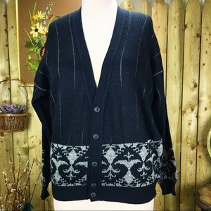 Vintage Oakton Limited Tall Large Cardigan Sweater